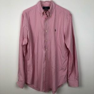 Polo Ralph Lauren Pink Striped Classic Fit-L